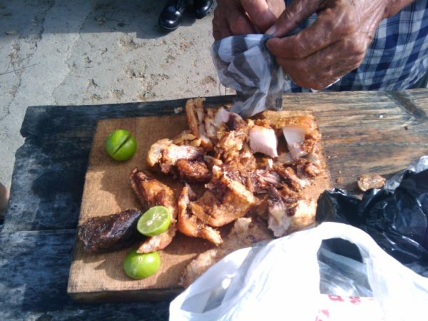 Chicharron con limon