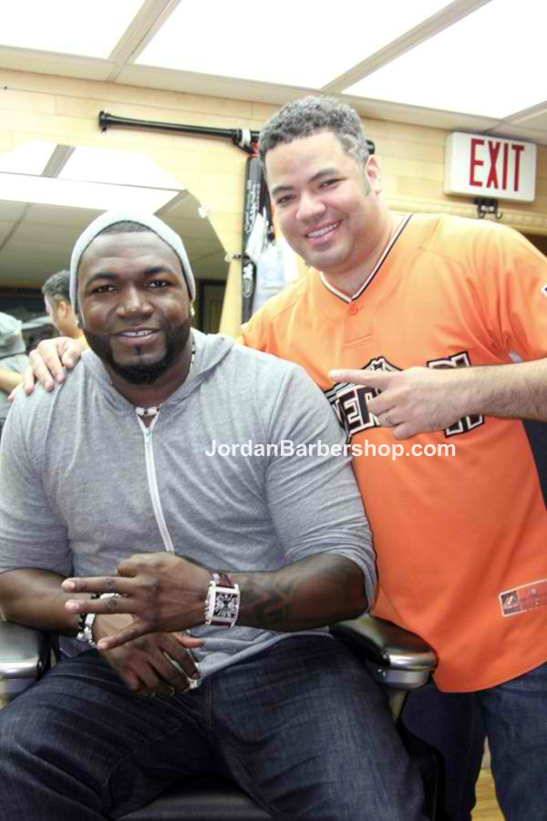David Ortiz and his barber