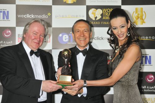 WTA. 2011 Graham Cooke founder of WTA and Dr.  Claudio Silvestri accepting honor as World's Leading Golf Resort for Casa de Campo. LG PHOTO